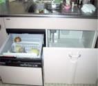 シンク(流し台)下に 流し下収納、食器洗い乾燥機
