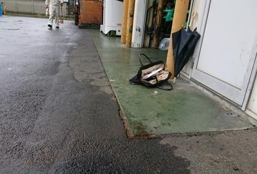 土間コンクリート延長工事Before