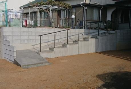 擁壁・階段・スロープ設置After