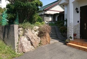 擁壁・階段・スロープ設置Before