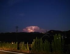 自然のアート(光る雲)