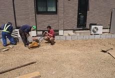隣地ブロック積工事