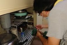 キッチン扉の修理