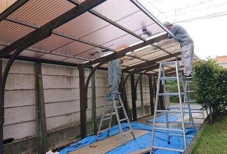 カーポート屋根貼替After