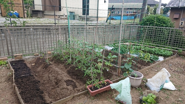 農作業と初物を食べる